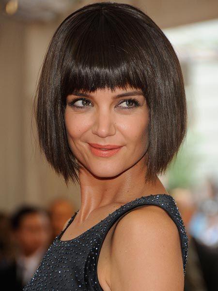 Katie Holmes Tragt Jetzt Bob Bob Haare Frauen Frisuren Kurzhaarfrisuren Damen