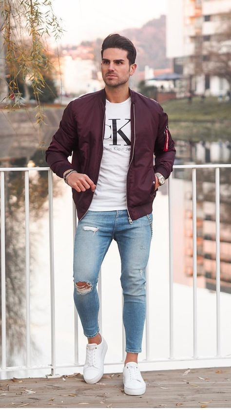 Awesome Men Bomber Jacket Outfits Ideas To Try - There has always been a lot of debate about whether a mens bomber jacket should be black or brown. The purists will argue that it should definitely be.