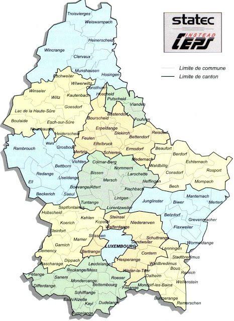 Luxembourg Geografiske Kort Over Luxembourg Wissenswertes
