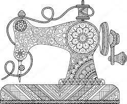 Maquina De Coser Para Colorear Buscar Con Google Sewing Machine Drawing Doodle Art Drawing Vintage Sewing Machine