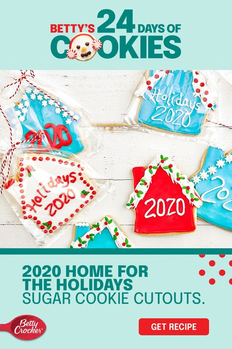 If you're home for the holidays (did you ever leave?) then we've got the perfect holiday sugar cookie recipe for you! Cheer can be created anywhere, so celebrate your home with Betty Crocker Sugar Cookie Mix and a house-shaped cutout. Decorate your holiday sugar cookies to match your home and enjoy them in any room you want.