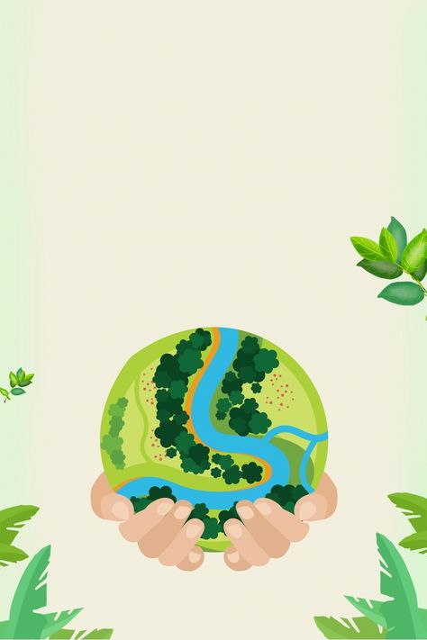 protect the environment, green, energy saving, low carbon, earth day, public welfare, hand-painted, hands, protect the earth, control pollution, improve the environment