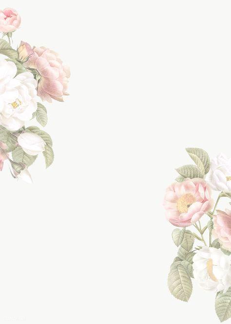 Elegant floral frame design transparent png | premium image by rawpixel.com / Donlaya / ploy / manotang