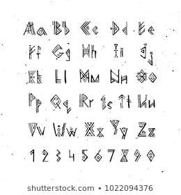 Set Of Old Norse Scandinavian Runes Runic Alphabet Futhark Ancient Occult Symbols Vikings Letters On White Rune Font Ve Viking Runes Runes Norse Alphabet
