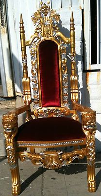 ·?· ? ··· XL GOLD KING CHAIR THRONE GOTHIC QUEEN ALL WOOD HANDMADE FURNITURE | Middle Eastern Handcrafts Art Calligraphy.... | Pinterest. & ·?· ? ··· XL GOLD KING CHAIR THRONE GOTHIC QUEEN ALL WOOD ...