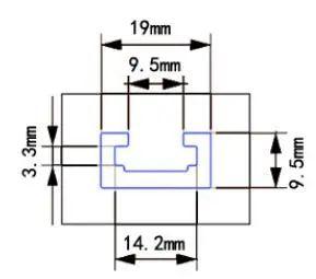 Drillpro 300-1220mm T-track T-slot Miter Track Jig T Screw Fixture Slot