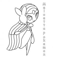 Meloetta Pokemon Coloring Pages Pokemon Coloring Pages