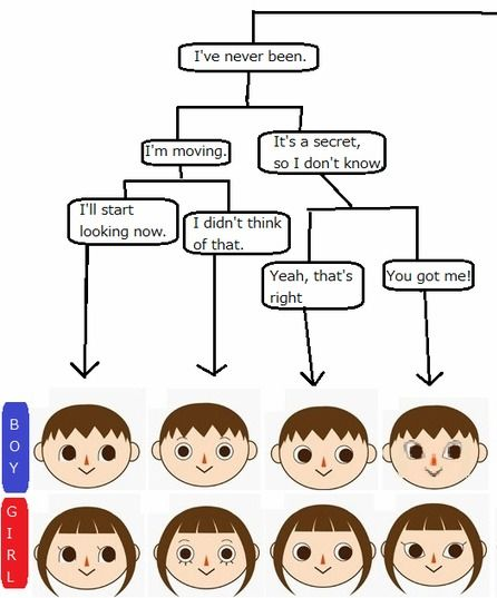 Animal Crossing New Leaf Face Hair Style And Eye Color Guides