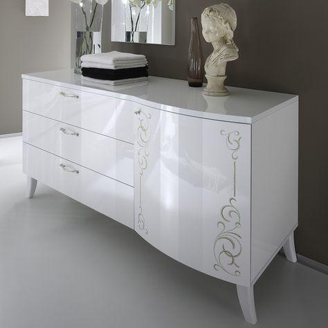 Buffet design OXYGEN blanc laqué, Autre ♥ Home
