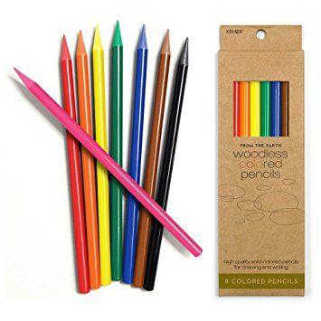 R 12 Piece Woodless Coloring Pencil Set Assorted General Pencil 1114-12A Factis