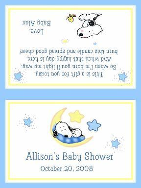 17 best images about baby shower favors on pinterest jungle baby snoopy baby shower tea light candle favors filmwisefo Choice Image