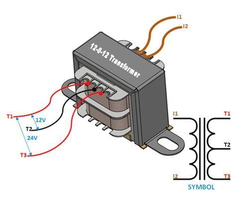 12 0 12 Center Tapped Transformer Wiring Terminals Electronic Circuit Projects Transformer Wiring Electronics Circuit