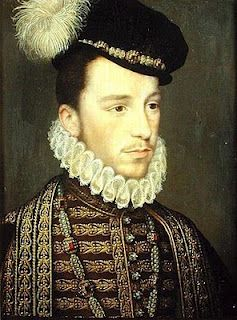 Henri III, last Valois King of France. As the Duke of Anjou, he had briefly been a suitor to Elizabeth I in 1570 (the date of this portrait).