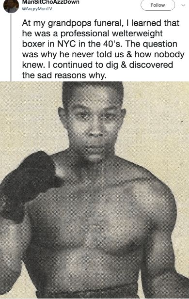 This heartwarming story centers on an unsung hero who went to great and risky lengths to provide for his family. That is, until The Mob stepped in with a life-threatening hiatus. #family #secret #history #boxing