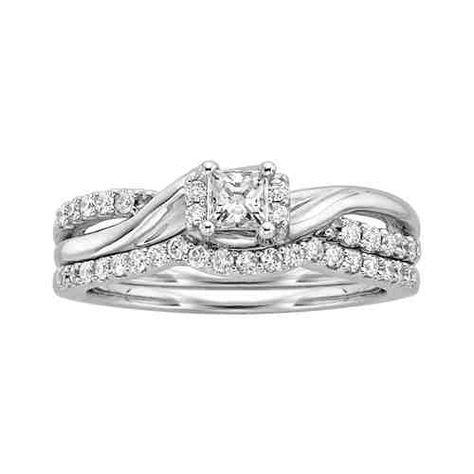 1 2 Ct Tw Diamond Wedding Set In 10k White Gold Price 925 00 Fred Meyer Jewelers Diamond Wedding Sets Wedding Sets Dream Jewelry