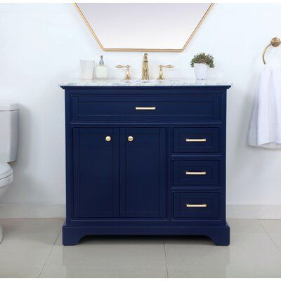 Darry 36 Single Bathroom Vanity Set Base Finish Blue 36 Inch Bathroom Vanity Blue Bathroom Vanity Bathroom Vanity
