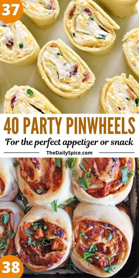 Party pinwheels and roll ups are some of the easiest and quickest appetizers and bite sized snacks you can whip up in a few minutes to feed a crowd.