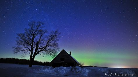 Paul spotted a trace of Northern Lights on February 26, 2012