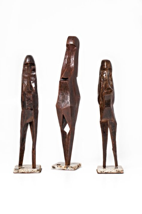 Three Metal Head Sculptures By Jacob Novinger by JacobNovinger