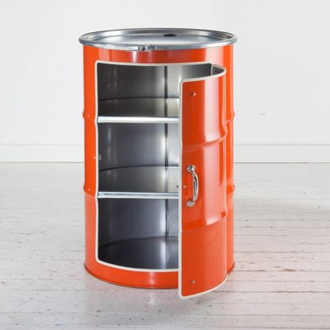BIDON: MEUBLE - ORANGE Bidon d\'huile recyclé | Mobilier de ...