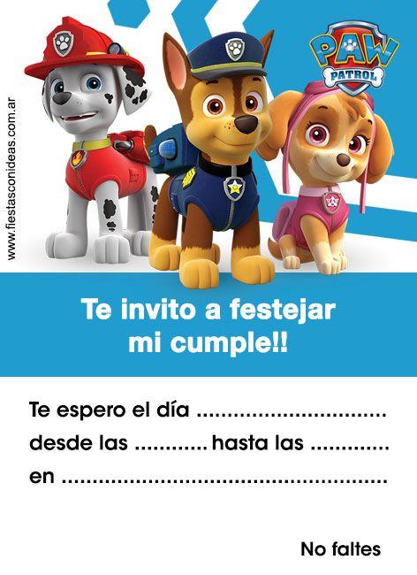 Paw Patrol Patrulla De Cachorros Tarjeta De Cumpleaños Tarjeta De Cumpleaños Gratis Tarjetas De Cumpleaños Para Niños Tarjetas De Cumpleaños Para Imprimir