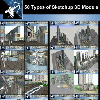 Best 50 Types Of City Design Commercial Building Sketchup 3d