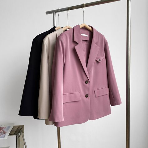 32.4US $ 40% OFF|Single Breasted Suit Jacket Women 2021 Spring Autumn Korean Style Loose Elegant Women Blazers and Jackets Office Lady Y71|Blazers|   - AliExpress
