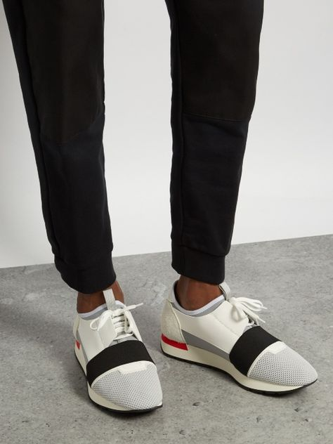 BALENCIAGA Race Runners panelled low
