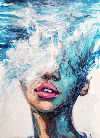Jeune artiste de Philly, Lindsay Rapp, sur des sujets féminins, des vagues déferlantes et la possession de sa propre galerie