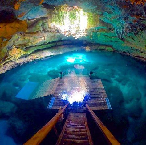 Near Williston, Florida, Devil's Den - Visit Devils Den - Swim, Snorkle and Scuba Hot Spot.