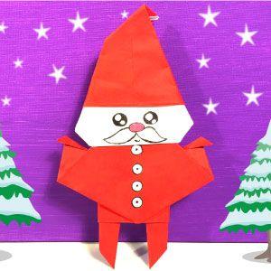 Kerstman Vouwen Origami Vouwwerk Kerstman Origami Origami Vouwen