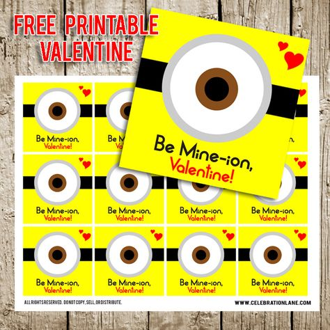Free Despicable Me Valentine's Day Printable