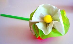 Lieder Basteln Muttertag Seidenblume Weiss Fruhlingsblumen Basteln Basteln Seidenblumen