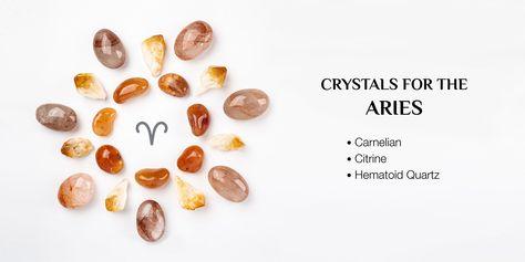 #aries #topcrystals #crystalsfor #crystalsforaries #crystalsforyoursign #astrology #zodiacsign #whatsyoursign #carmelian #citrine #hematoidquartz #crystals #healingcrystals #crystalsforbeginners