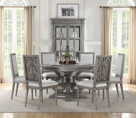 20++ Round grey dining table set Best
