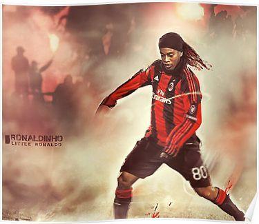 Ronaldinho Ac Milan Football Poster Poster Ronaldinho Wallpapers