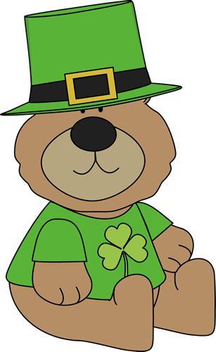 Saint Patrick S Day Bear Saint Patricks Day Art St Patricks Day Clipart St Patricks Crafts