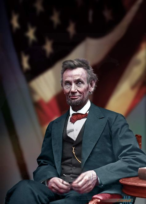 Photo colorized and composited by Alex Lim American Revolutionary War, American Civil War, American History, Greatest Presidents, Us Presidents, Us History, History Facts, Abraham Lincoln Pictures, Civil War Photos