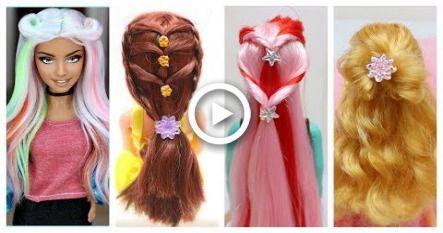 Diy Barbie Hair Transformations Barbie Doll Hairstyles Barbie Hairstyle Tutorial For Barbie Doll Hairstyles Barbie Hairstyle Doll Hair