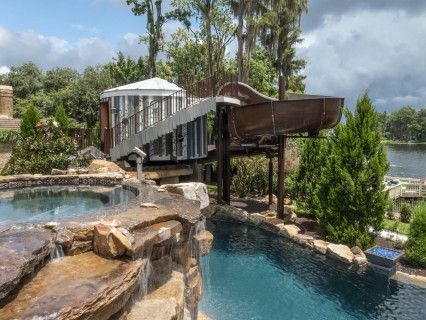 From Mild To Wild Insane Pools Special In Tampa Florida Lucas Lagoons Dream Backyard Pool Insane Pools Pool Houses
