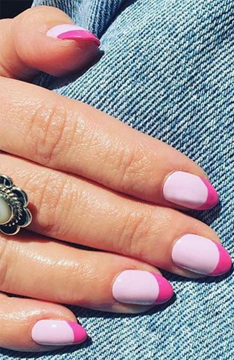 20 Stylish Nail Trends To Try In 2020 Colored French Nails Manicure Colors Manicure
