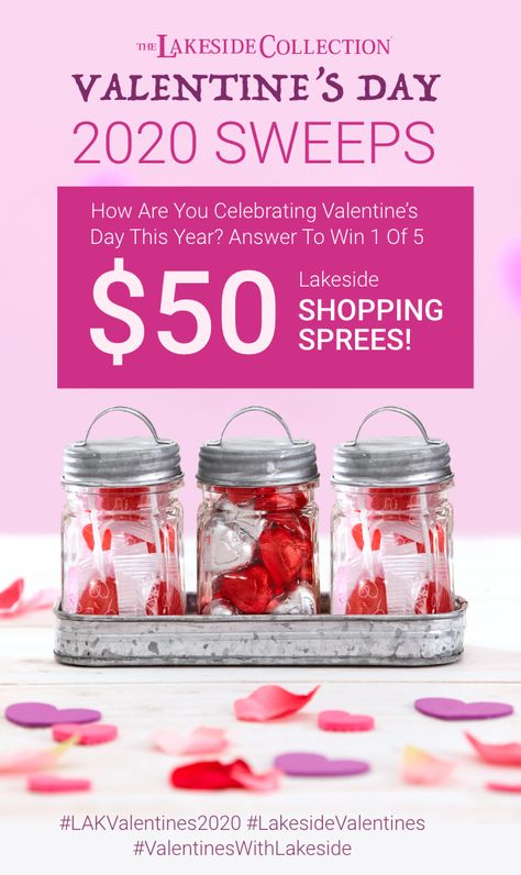 Cupid must be busy because love is in the air at The Lakeside Collection! We are ready for romance...are you? Tell us how YOU are celebrating Valentine's Day this year, and you could win 1 of 5 $50 Shopping Sprees! Visit our site to enter today!