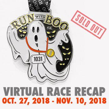 Virtual Race Run With Boo 5k Halloween 2018 In 2020 Virtual Race Racing Race Bibs