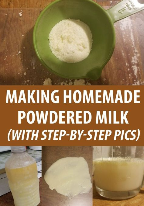 How to make powdered milk at home, how to scald it, prepping the dehydrator or the oven. Plus, how to reconstitute it, and some delicious recipes. Goat Milk Recipes, Recipes With Milk, Milk Powder Recipe, Potato Flour, Canned Food Storage, Canning Recipes, Drink Recipes, Jar Recipes, Freezer Recipes