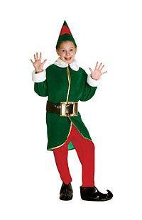 CHILD ELF COSTUME CHRISTMAS FANCY DRESS BOYS 5 PC SANTA/'S HELPER XMAS MEDIUM