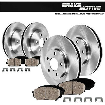 Fit Land Rover Discovery Front Rear  Drill Slot Brake Rotors+Ceramic Brake Pads