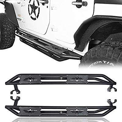 Amazon Com Hooke Road Jeep Wrangler Running Boards Star Tubular