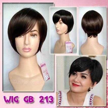 Jual Wig Murah Hairclip Murah Grosir Eceran Wig Gb 213 Ala Yuni Shara Rambut Palsu Rambut Pendek Rambut