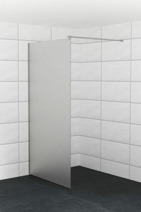 Goede Douchewand op maat van matglas | Matglas, Badkamer mat, Douche deuren QS-73