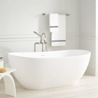 Signature Hardware 934565 56 Air Free Standing Bath Tub Free
